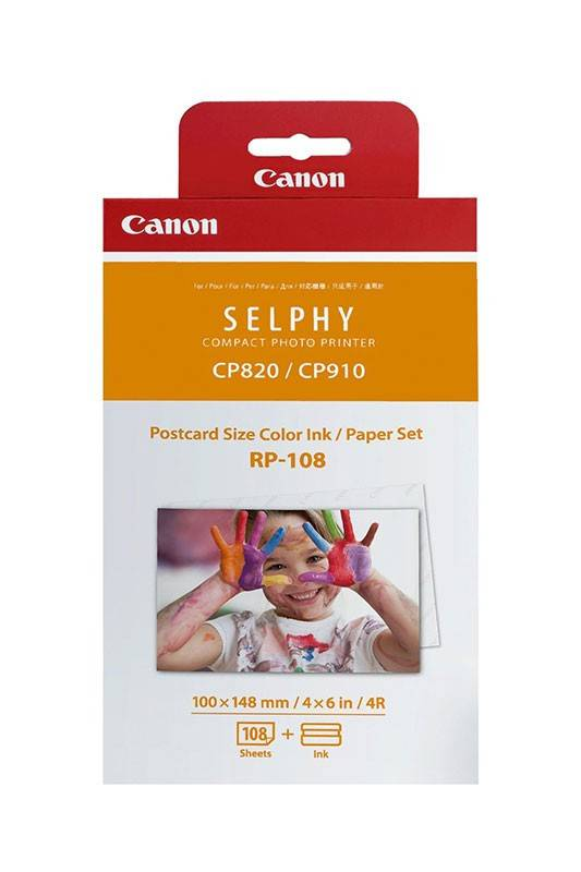 Набор Canon RP-108 Ink/Paper set для SELPHY CP1300/1200/910/820